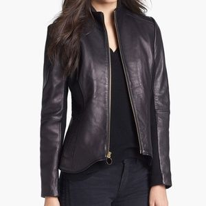 T Tahari Women's Riva Leather Jacket